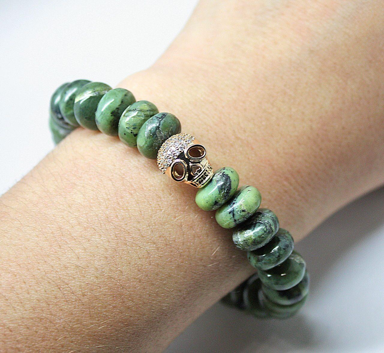 Купить браслет из зеленого нефрита